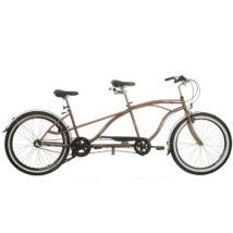 Kerékpár Neuzer tandem Twilight cruiser jellegű Nexus 3S agyváltó barna/ezüst