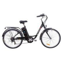 Z-tech Pedelec Barcelona fekete elektromoskerékpár 36V 9Ah