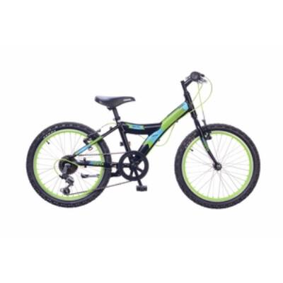 Kerékpár Neuzer Gyermek Max 20 6S fiú fekete/neonzöld (matt)