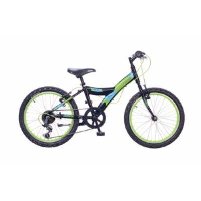 "Neuzer 20""-os gyerek bicikli Max 6S fiú fekete/neonzöld (matt)"