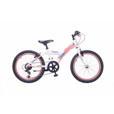 """Neuzer 20""""-os gyerek bicikli Max 6S fiú fehér/piros (matt)"""