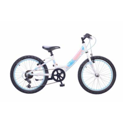 """Neuzer 20""""-os gyerek bicikli Maja 6S lány fehér/ rózsaszín (matt)"""