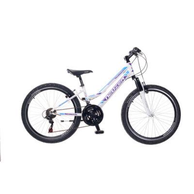 Kerékpár Neuzer Gyermek Mistral 24 18S lány fehér/lila - türkiz