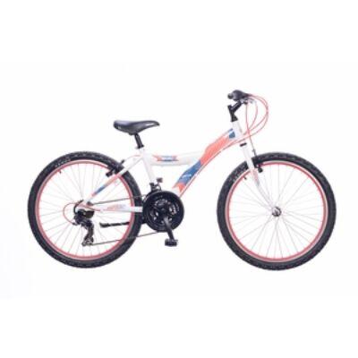 Kerékpár Neuzer Gyermek Max 24 18S fiú fehér/piros