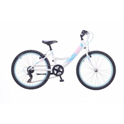 Kerékpár Neuzer Gyermek Maja 24 6S lány fehér/ rózsaszín