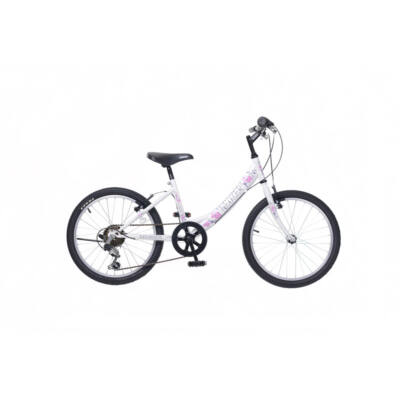 """Neuzer 20""""-os gyerek bicikli Cindy 1S fehér/pink"""