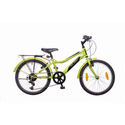 "Neuzer 20""-os gyerek bicikli Bobby City 6S fiú neonzöld/fekete"