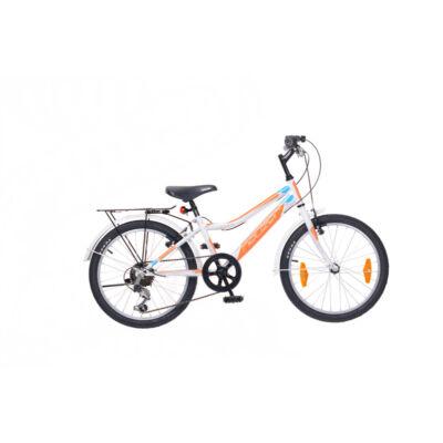 """Neuzer 20""""-os gyerek bicikli Bobby City 6S fiú fehér/narancs"""