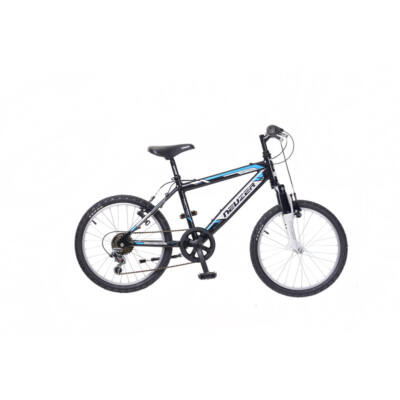 """Neuzer 20""""-os gyerek bicikli Mistral 6S fiú fekete/fehér-cián"""