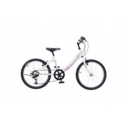"""Neuzer 20""""-os gyerek bicikli Cindy 6S fehér/pink"""
