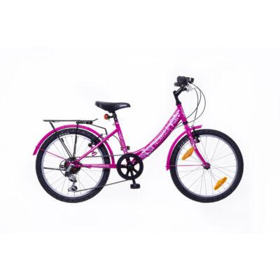 """Neuzer 20""""-os gyerek bicikli Cindy City 6S lány pink"""