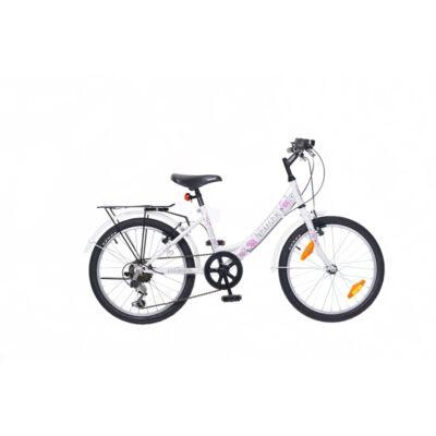 """Neuzer 20""""-os gyerek bicikli Cindy City 6S fehér/pink"""