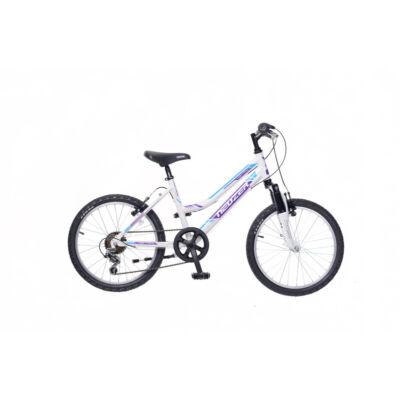 """Neuzer 20""""-os gyerek bicikli Mistral 6S lány fehér/lila-türkiz"""