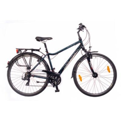Kerékpár Neuzer Trekking Ravenna 100 férfi fekete/ cián-piros 19