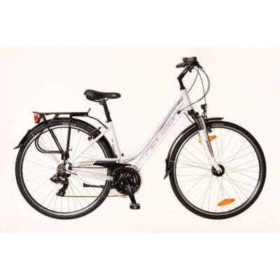 Kerékpár Neuzer Trekking Ravenna 100 női fehér/lila- szürke 17