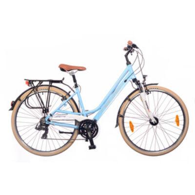 Kerékpár Neuzer Trekking Ravenna 100 női babyblue/ fehér-krém 19