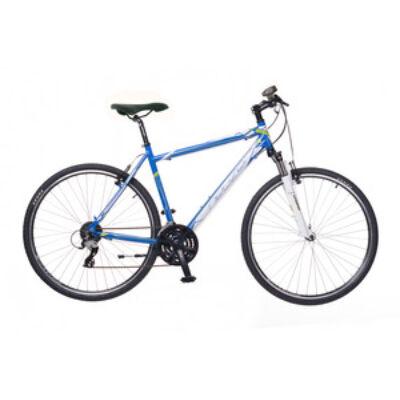 Kerékpár Neuzer Cross X2 férfi kék/fehér-zöld 21