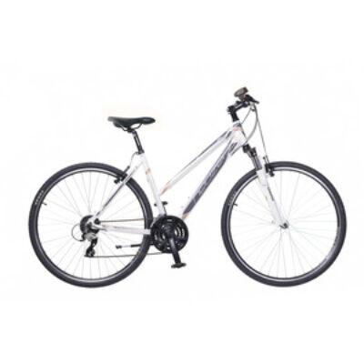 Kerékpár Neuzer Cross X2 női fehér/szürke-bronz 17