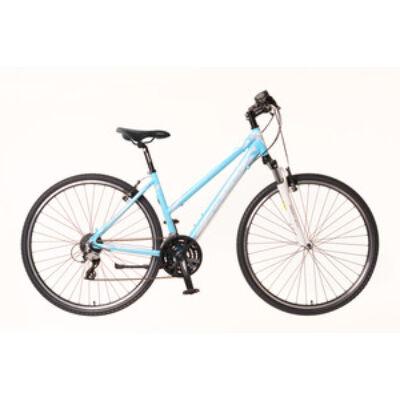 Kerékpár Neuzer Cross X2 női világoskék/fehér- rózsaszín 17