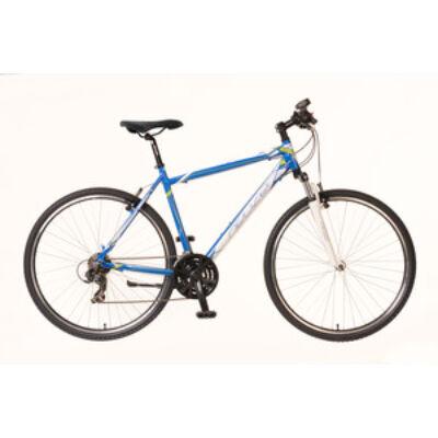 Kerékpár Neuzer Cross X1 férfi kék/fehér-zöld 21