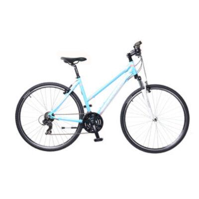 Kerékpár Neuzer Cross X1 női világoskék/fehér- rózsaszín 17