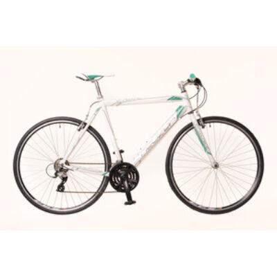 Kerékpár Neuzer Courier fehér/türkiz 54 cm
