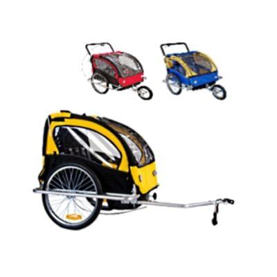 Kerékpáros utánfutó - gyermek és csomag szállító utánfutó vagy jogging gyermek kocsi piros színben