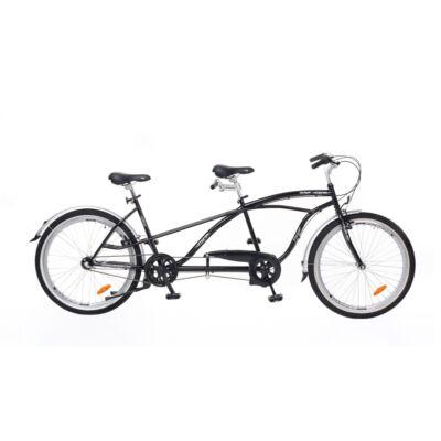 Kerékpár Neuzer tandem Twilight cruiser jellegű Nexus 3S agyváltó fekete/ezüst