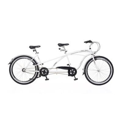 Kerékpár Neuzer tandem Twilight cruiser jellegű Nexus 3S agyváltó fehér/fekete