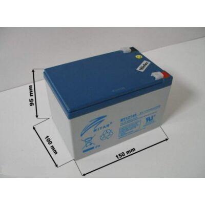 Velox alkatrész akkumulátor 12V/14Ah Ritar