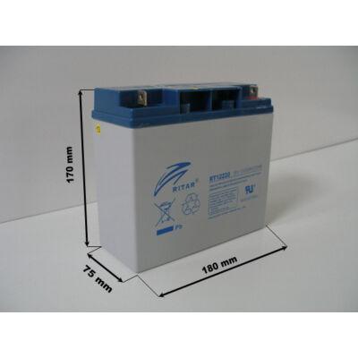 Velox alkatrész akkumulátor 12V/22Ah Ritar