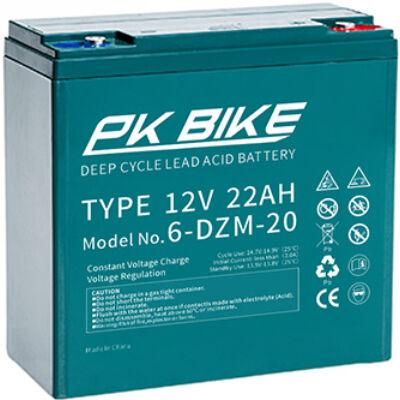 Velox alkatrész akkumulátor 12V/22Ah PK Bike