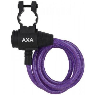 Zár spirál AXA 8X1200MM ZIPP lila