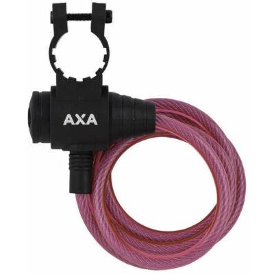 Zár spirál AXA 8X1200MM ZIPP pink