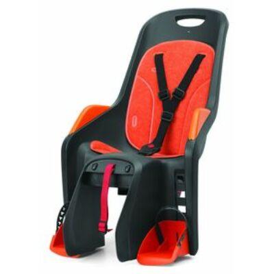 Kerékpáros gyerekülés hátra csomagtartóra Polisport Bubbly Maxi szürke/narancs