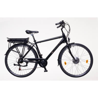 "Neuzer 28""-os Pedelec E-Trekking Zagon MXUS motorral férfi fekete/bronz/kék 21"""