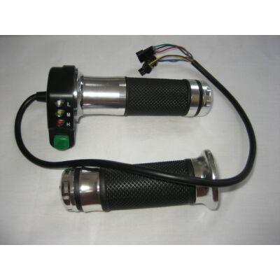 Velox alkatrész gázkar kapcsolóval és 3 LED-es töltésvisszajelzővel