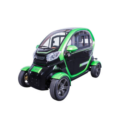 ZT-96 4 kerekű e-moped autó fekete-zöld