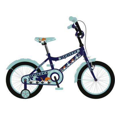 """Neuzer 16""""-os gyerek bicikli BMX fiú királykék/cián"""