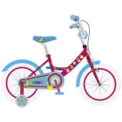 """Neuzer 16""""-os gyerek bicikli BMX lány pink/cián"""