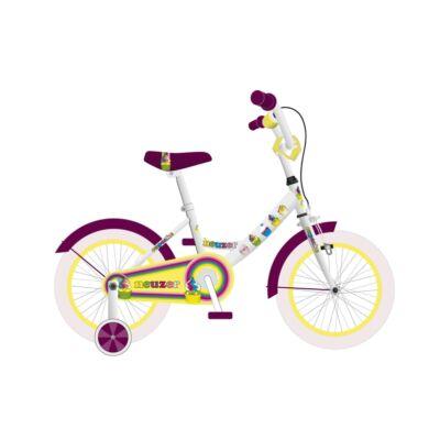 """Neuzer 16""""-os gyerek bicikli BMX lány fehér/szilva"""