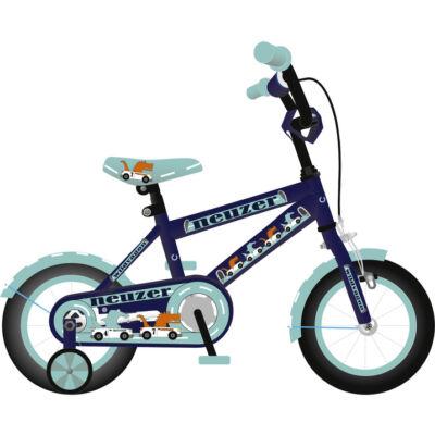 """Neuzer 12""""-os gyerek bicikli BMX fiú királykék/cián"""