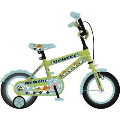 """Neuzer 12""""-os gyerek bicikli BMX fiú neonzöld/cián"""