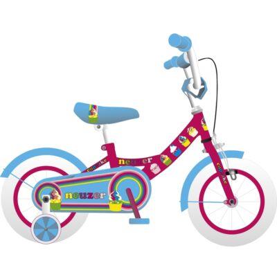 """Neuzer 12""""-os gyerek bicikli BMX lány pink/cián"""