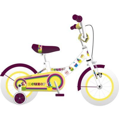 """Neuzer 12""""-os gyerek bicikli BMX lány fehér/szilva"""